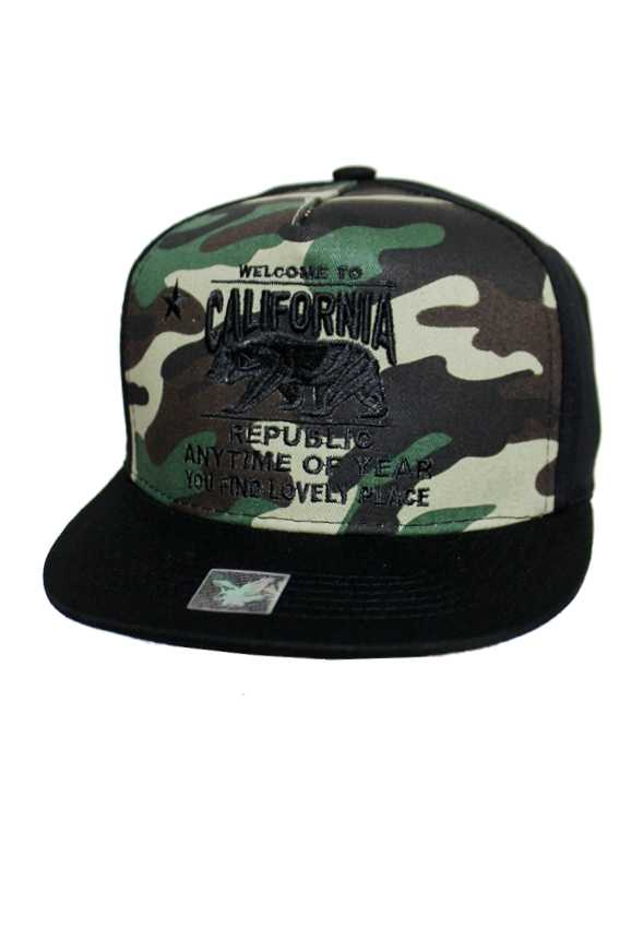 California Republic Design fashion Five Panel Style Snap Back