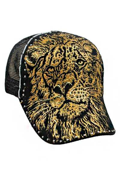 Golden LION Hand Printing Truck cap Style