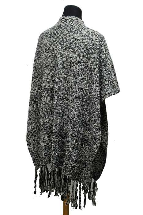 Poncho Vest Knitting Pattern : Pocketed thick knit long vest styled poncho mixed grain