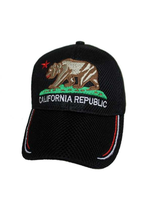 California Republic Design with Visor Point Air Mesh Caps