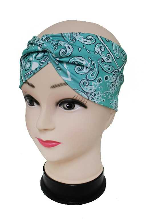 Classic Turban Twist Sugar skull Paisley Bandana Headbands