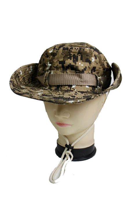 Youth Sized Military Digital Camouflage Printed Outdoor Fisherman Hat