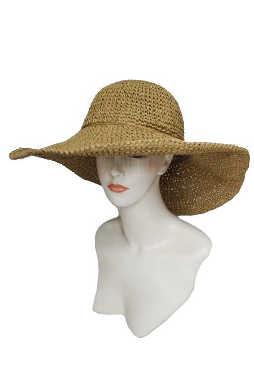 Hand Made Straw Floppy with Wire Sun hat