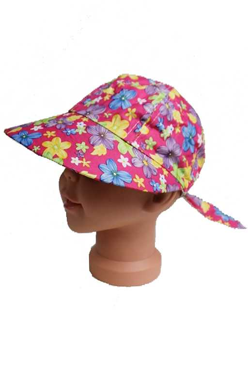 Kids Full Coverage Visor Bill With Floral Print