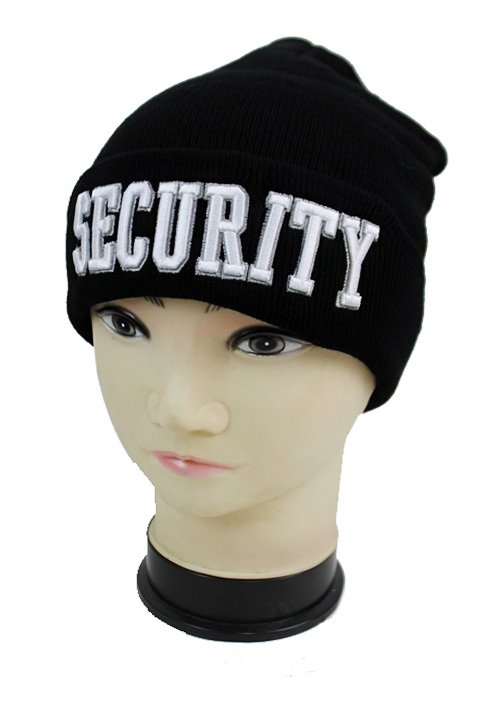 Security Work Classic Black Beanie