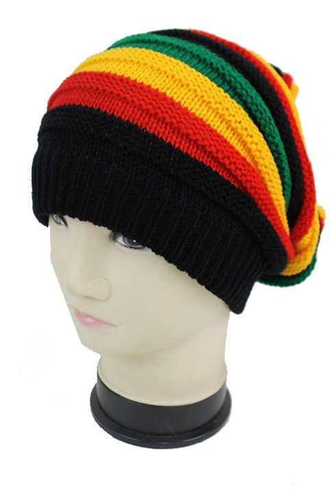 Over sized Rasta Dread Lock Baggie Beanie