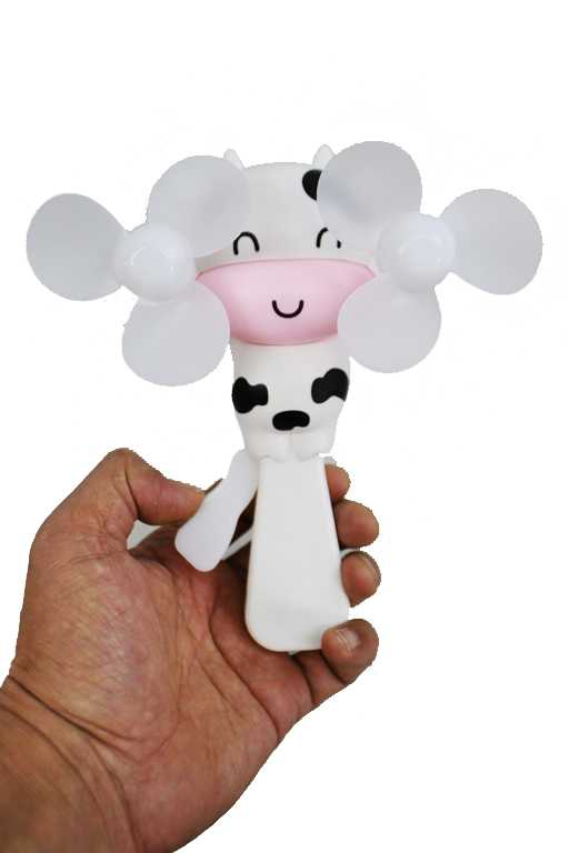 Cow Novelty Double Propeller Hand Held Fan