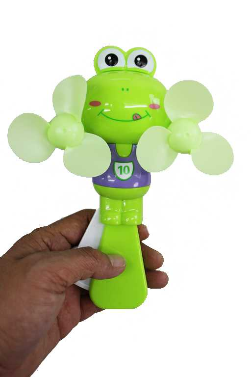 Animated Goofy Frog Soccer Jersey Double Propeller Hand Held Fan