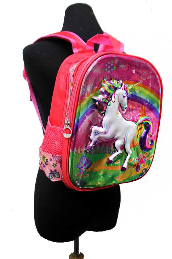 Back To Unicorn Animated 3D Youth and child Backpack