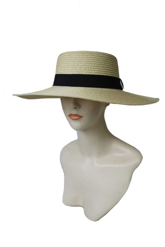 Classic Toyo Straw Big Brim Fashion Boater Hat
