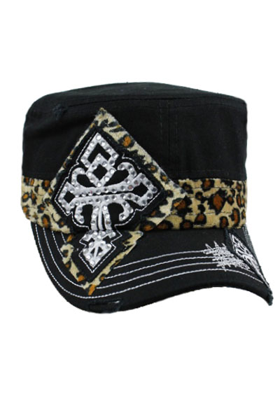 CROSS Animal print design vintage style Cadet cap