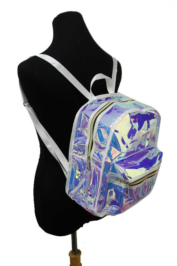 Laser Silver Reflective Hologram Backpack