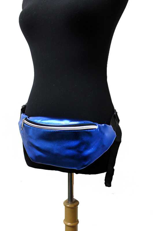 Metallic Leatherette Waist Fanny Pack