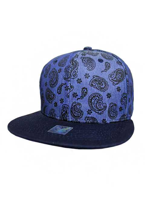 Paisley pattern Jean Fabric Fashion Snap Back