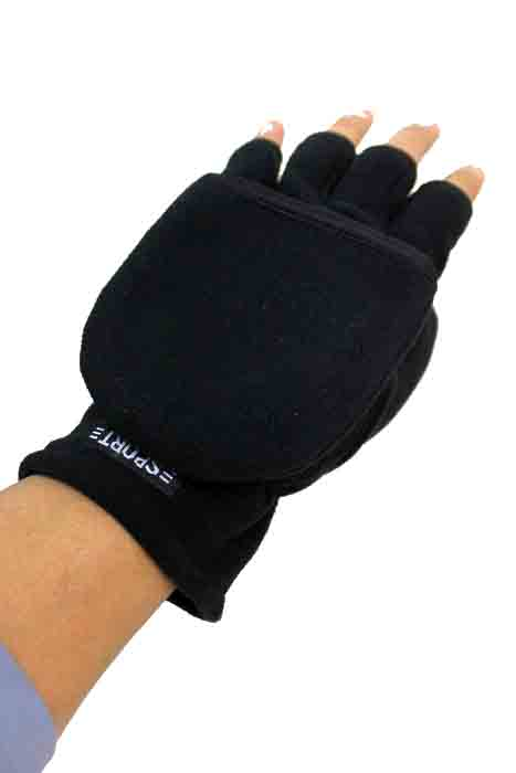Finger less Fleece Gloves With Mittens