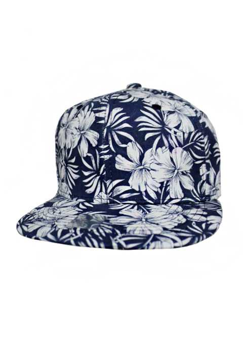 Hawaii Hibiscus Flower Print design Cotton Snap Back