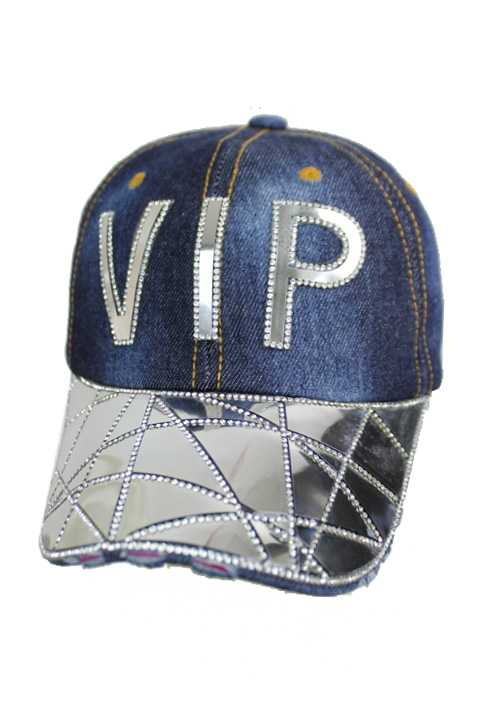 VIP Gold Silver Plated Stone Embellished Bling Bling Cap