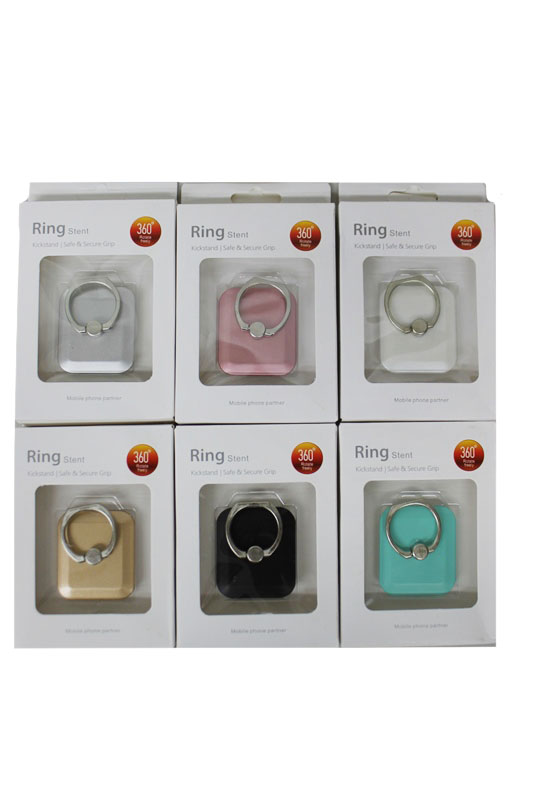 Round Square Design Universal Mobile Phone Finger Grip Ring Holder