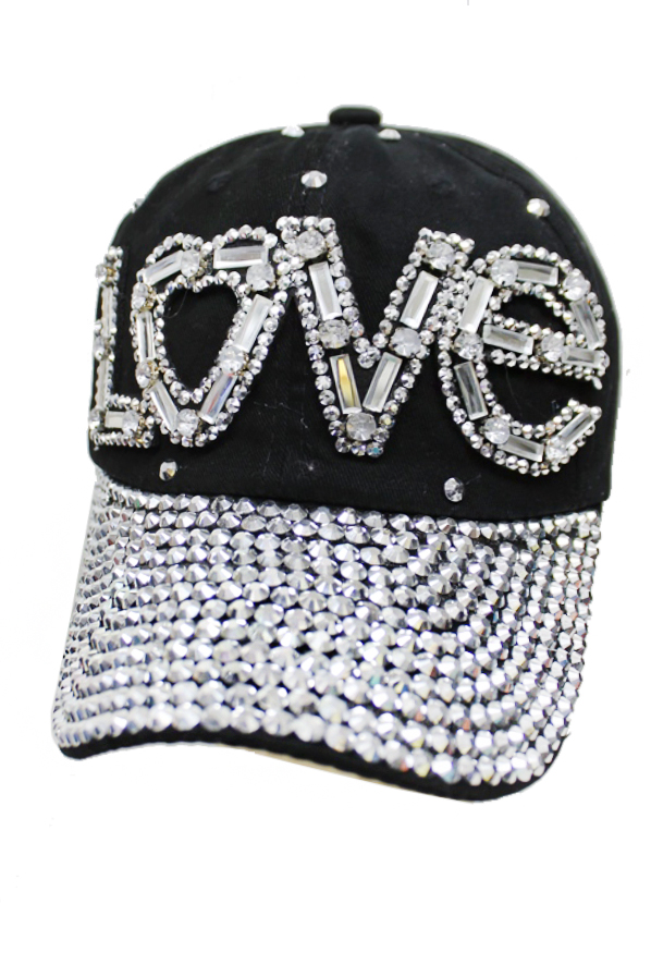 Love Clear Stone Chunky Blinged Cap