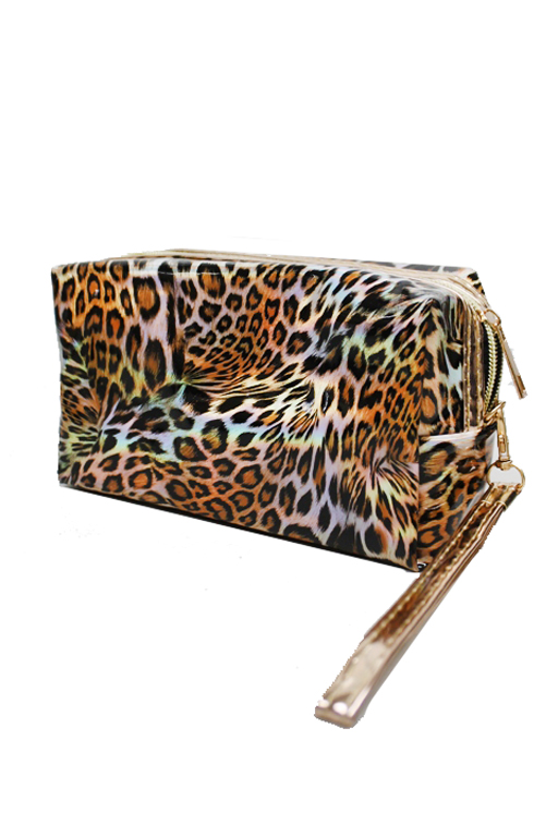 Animal Printed Colorful Laser Iridescent Pouch Bag