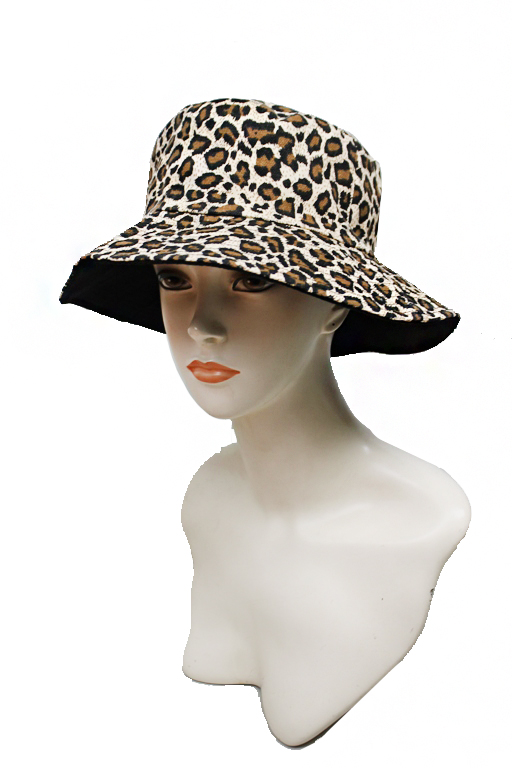 Leopard Animal Printed Summer Beach Reversible Unisex Bucket Hat