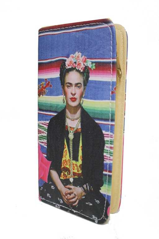 Novelty Frida Khalo Mexican Culture Zip Up Full Size Wallets