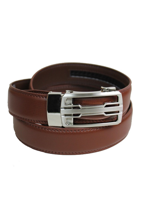 Complex Retro Carved Silver Buckle Leather Felt Men's Wear Belt