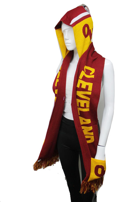 Cleveland Design Warm Winter Knit Hooded Scarf