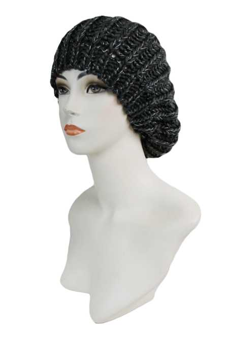 Super Softness Knitted with Tinsel Accent Basic Color Beret Hat