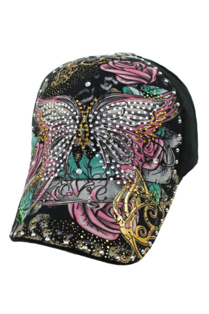 Butterfly Stone Print design baseball style Cap