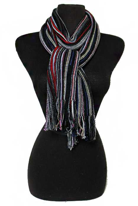 Unisex Tribal Earth Toned finely Braided Oblong Softness Scarves