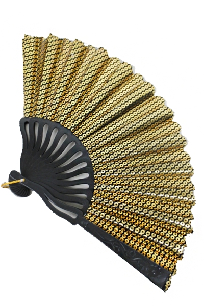 Silver And Gold Sequin Collection Hand Fans
