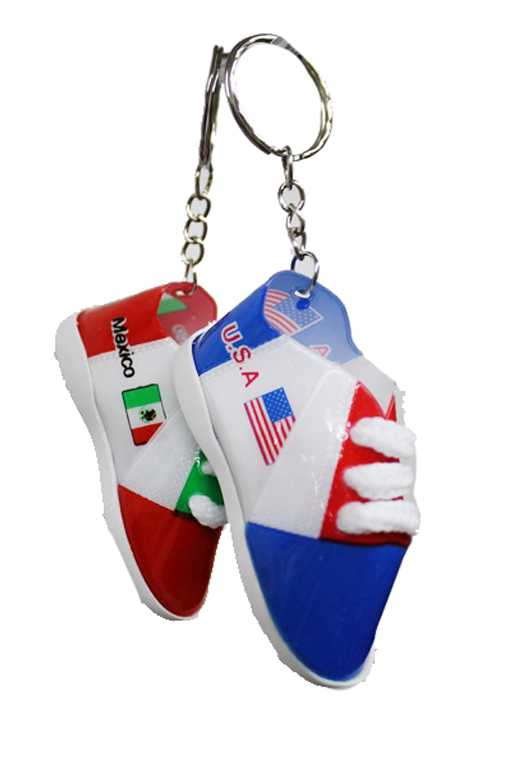 Mini Soccer Cleats USA And Mexico Silicon Charms