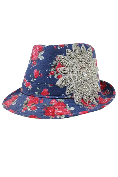 Peonies Flower with Crystal Sun Flower Patch Fedoras