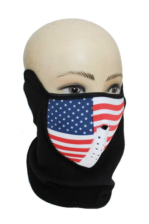Velcro Outdoor Motorcycle Skull Half Face Mask