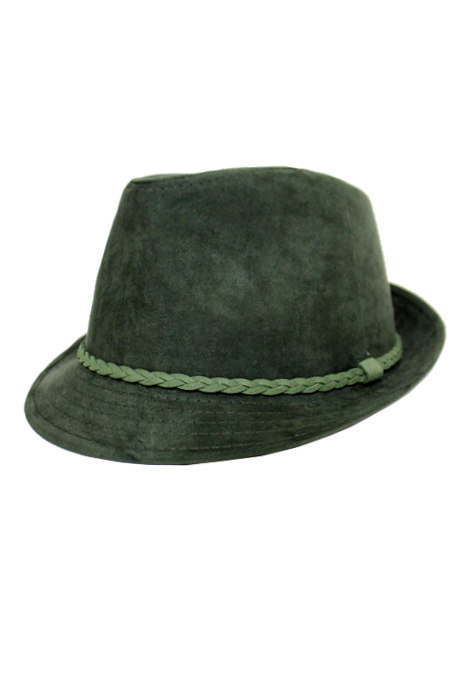 Suede with Braid Pattern Softness Unisex Fedoras
