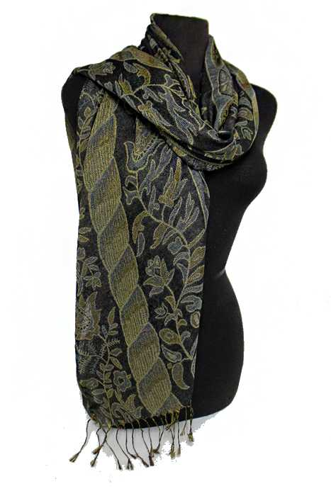 Flower Cable pattern Softness Silky Pashimina Shawls Scarf