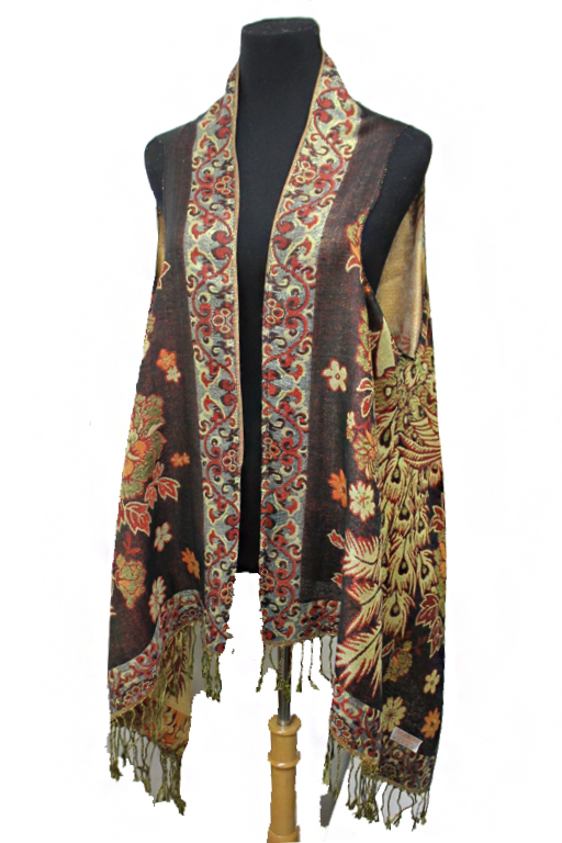 Luxurious Gold Threaded Exotic Peacock Custom Vest
