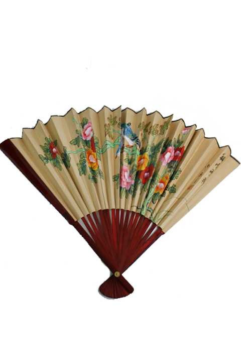 Oriental Floral And Bird Furniture  Wall Fan