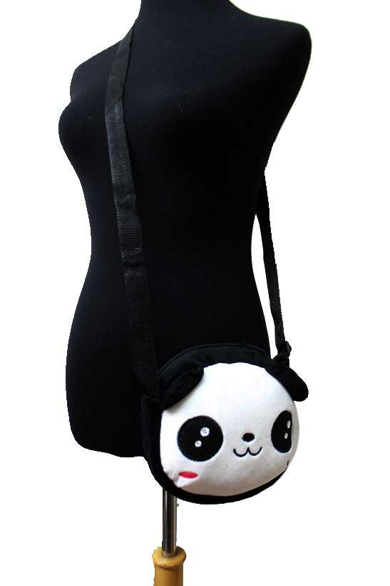 Plush Panda Bear Cross Body Bag