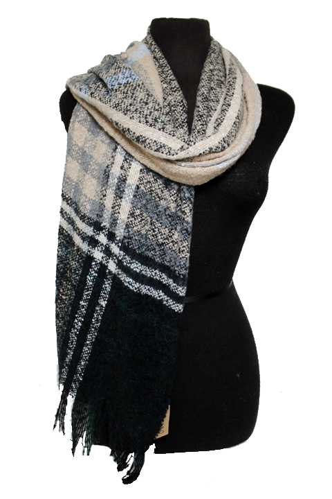 Plaid Patterned Soft Scarf