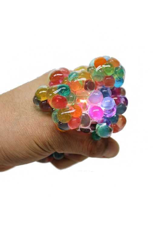Multi Colored Squish Gel Filled Balls With Light Up Feature