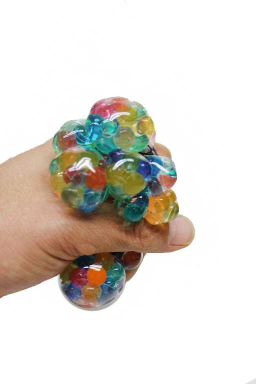 Multi Colored Mini Filled Ball Squish Net Ball