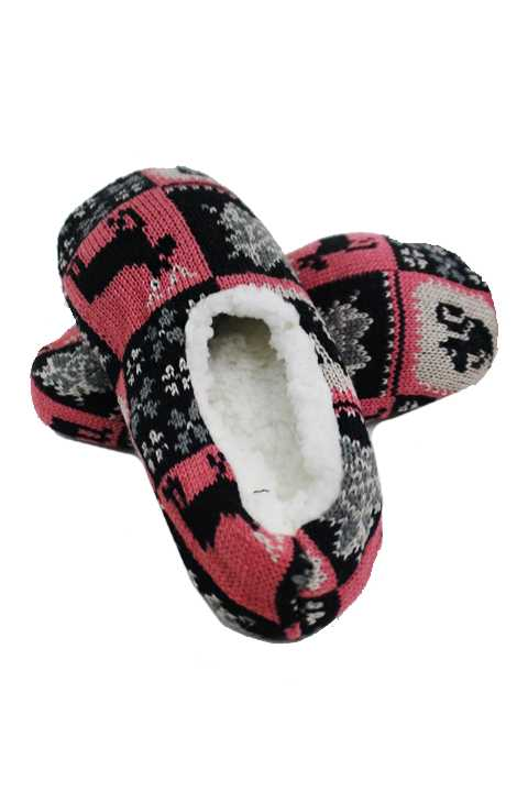 Festive And Basic Print Indoor Non Slip Grip Slippers