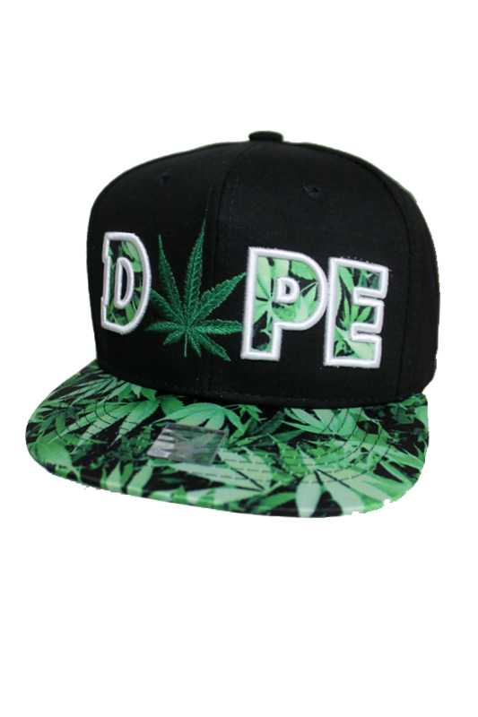 DOPE Marijuana Printed Design Snap Back