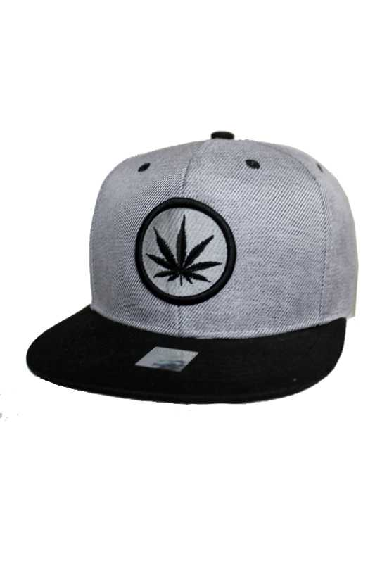 Circle Embroidery Marijuana Design fashion Snap back