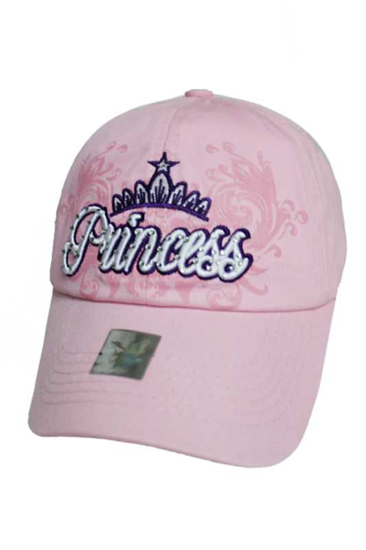 Princess Distressed Stone Embellished Cotton Cap
