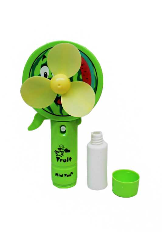 Fruit Themed Summer Water Squirt Able Spray Hand Held Fan