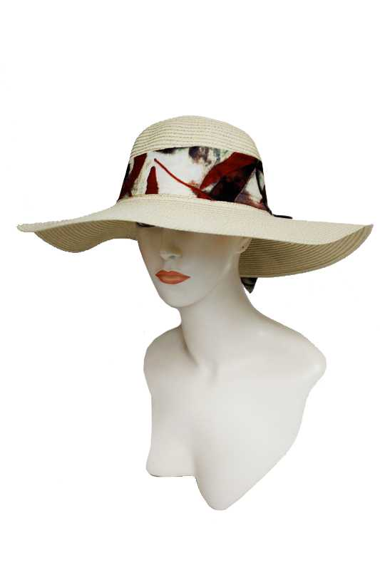Natural Design Bow Floppy Sun Hat
