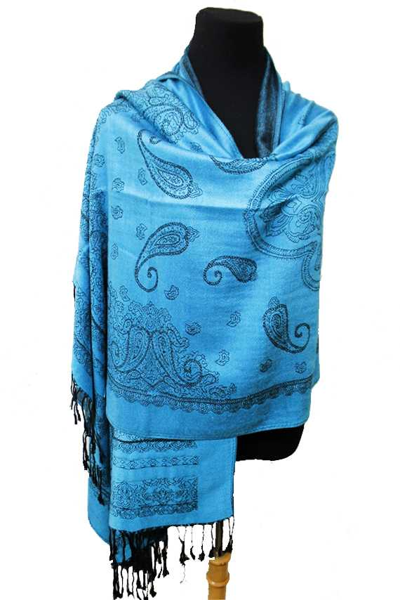 Mandala and Paisley Printed Soft Pashmina Scarf